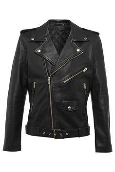 Mens Leather Jacket 5 Black