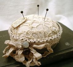Pin Cushion...By:feathered-nest