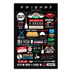 iPosters.co.uk: Friends TV Show Infographic Poster - iPosters.co.uk @Anna Samole Flamm we both need one of these!!