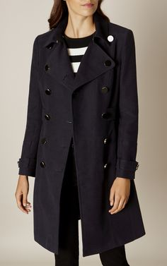 Karen Millen, MILITARY COAT Navy