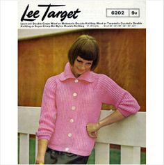783e28b8a Ladies Cardigan   Jacket knitting pattern Double knit yarn Lee target 6202  on eBid United