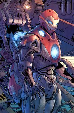 Iron Man, por Bryan Hitch