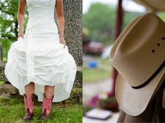 yes mam i will wear my boots with my wedding dress!