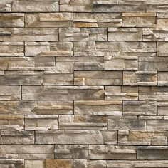 Stone veneers or stone tiles give you the look of high-end masonry work. Stone veneer over the wall creates more unique look with variation of design and color. Stone veneer wall is quite interesting as additional feature at your home. Faux Stone Panels, Faux Stone Veneer, Stone Veneer Panels, Brick Face, Stone Accent Walls, Stone Walls, Manufactured Stone Veneer, Fake Stone, Masonry Work