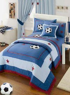 white tiger bedroom decor - Internal Home Design Bed Sets, Bedroom Themes, Bedroom Decor, Bedrooms, Soccer Bedroom, Sports Bedding, Boys Room Design, Bedclothes, Blanket Cover