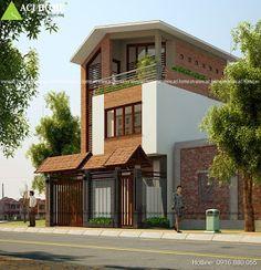 Thiết kế nhà phố đẹp ấn tượng: Thiết kế nhà phố 3 tầng kiểu hiện đại tại Hải Dươn...