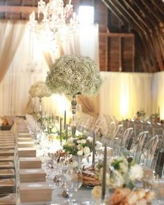 A gorgeous 'Steven Moore Designs' Reception design. For his own wedding! As seen in Martha Stewart Weddings. He's amazing! Decoration Table, Reception Decorations, Wedding Centerpieces, Wedding Table, Wedding Reception, Table Centerpieces, Wedding Ideas, Centerpiece Ideas, Reception Table