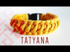 Tatyana's Weave Paracord Bracelet Tutorial - YouTube
