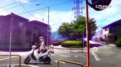 Clannad scooters roads anime anime girls - Wallpaper (#1732546) / Wallbase.cc