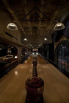 """A High-Design Bowling Alley Inspired by """"There Will Be Blood"""" #bowling #home"""