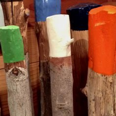 Painted birch wood wood look so cool for table legs