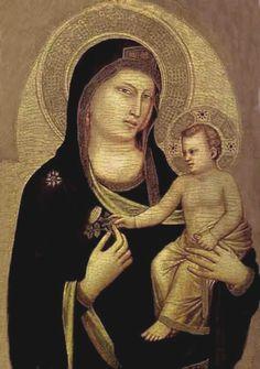 Madonna y el niño al temple por El Giotto.