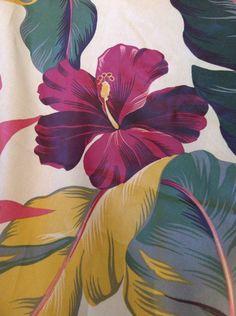 Vintage Hawaiian Print Barkcloth Napkins by marciaharris1 on Etsy, $6.00