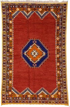 Red Tribal Moroccan Area Rug