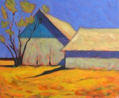 """North Fork Barns"", 24"" x 30"", oil on canvas, $2,800 Janis Sanders?"