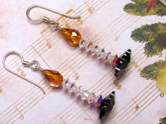 Christmas Candle Earrings Candle Earrings by HappyEverythingElse, $18.00
