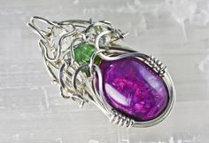 Sugilite with Green Tourmaline and Herkimer Diamonds by PhilipCrow, $595.00