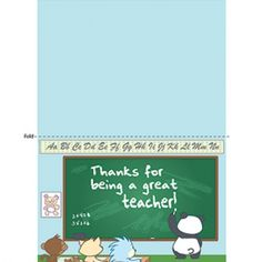 Printable Teacher Gift: Thank You Card