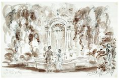 Set design by Oliver Messel for the film Suddenly, Last Summer, directed by Joseph L. Mankiewicz, Columbia Pictures, 1959. Watercolour on paper. Museum no. S.388-2006