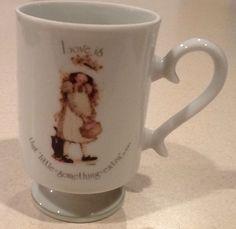 Holly Hobbie Vintage Tea Cup Mug Love Is That Little Something Extra  Porcelain