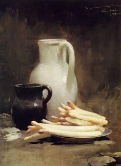 Emil Carlsen White Asparagus 1891