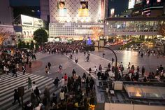 1. This is Shibuya crossing.  2. Is that guy upside down? o_O
