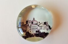 Antique Paperweight Depicting Berlin Reichstagsgebaude, Vintage Victorian Paper Weight, Domed Glass Globe with Old Photo Picture, Germany by darcyelizavintage on Etsy