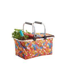 Dieser Einkaufskorb ist Ihr Assistent im Alltag - ob beim Rundgang über den Wochenmarkt oder beim nächsten Familienpicknick. In die Tasche mit praktischem Henkel passen Supermarkteinkäufe ebenso wie frisches Obst und Gemüse oder das Camping-Besteck.