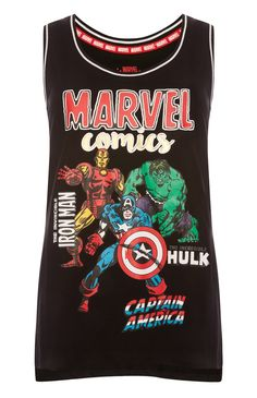 """Primark - Schwarzes """"Marvel"""" Tanktop"""