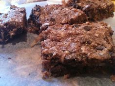 paleo brownie bars.  These were outrageously good.  Pretty much the best paleo dessert I've had so far. (Thanks, @annegarces!)