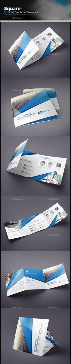 Square Tri-fold Brochure Template Vector EPS, AI. Download here: http://graphicriver.net/item/square-trifold-brochure/14582917?ref=ksioks