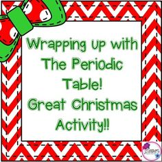 Atoms and periodic table i have who has review game group christmas science wrapping up with the periodic table urtaz Choice Image