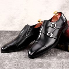 587c2413f6b Handsomely Formal Mens Wedding Double Monk Strap Shoe - We Only Hand-Made  High Quality Leather Men Formal Shoes