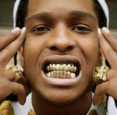 Gold Grill Set Two pieces Lightweight Wax insert for comfortable, adjustable fit Solid colorway Roughly long Hip Hop, Johnny Depp, Gangsta Grillz, Gold Slugs, Lord Pretty Flacko, Asap Mob, Diamond Grillz, Grills Teeth, Rapper