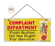 """Humorous Sign, Complaint Department Funny Wood Sign, Mouse Trap Sign, Sign For The Office, Weatherproof, 5 """"x 10"""" Sign, Made To Order by SRVintageandDesigns on Etsy"""