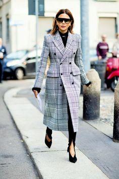 ♥️ Pinterest: DEBORAHPRAHA ♥️ Christine Centenera Milan FW Spring 2018 Street Style #winter #street #style