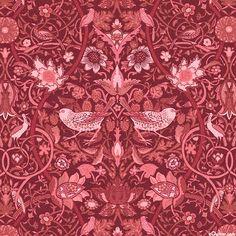 William & May - Garden Aviary - Wine Red