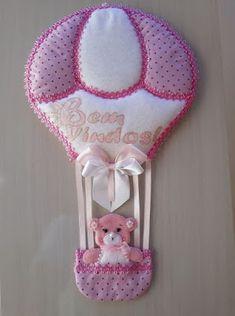 Molde Balão e Ursinho Baixar molde de balão com ursinho para decoração porta maternidade