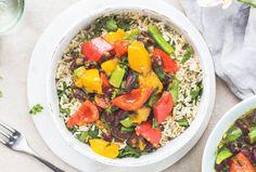 Healthy Vegan recipe   Caribbean-style mango & red pepper curry
