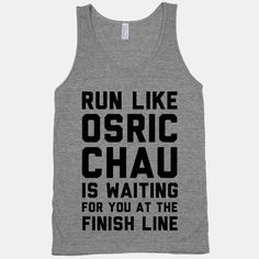Run Like Osric Chau Is Waiting For You At The Finish Line