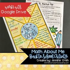 Starting out a new school year can always be daunting but providing your students with a fun and engaging way to get to know one another can always help lighten the anxiety, especially in a math classroom. This project is great for a Back to School, Open