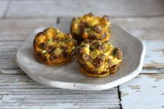 These mini sausage and cheese frittatas are super easy to fix and bake. The mini frittatas are baked in standard muffin cups.