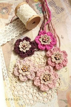 Cute crochet flower.Love the color