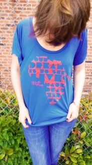 "Fight Human Trafficking with cool threads! ""Our dream is to see lives made beautiful."" Slouchy blue tee. ON SALE - $10 - through 7.11.15. All proceeds support Beautiful Dream Society's services to victims of human trafficking in Okahoma and Africa.   #humantrafficking #sextrafficking"