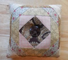 Primitive Vintage Old Quilt Mini Pillow Tuck Recycle Shabby Country Decor by auntiemeowsprims on Etsy