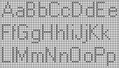 Block Letter Alphabet (9 Stitches Tall) Originally a Free Counted Cross Stitch chart but adaptable for tapestry and filet crochet.