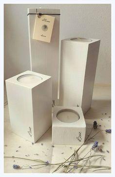 Drevený svietnik - Lzuz Vyrobený z masívu /dub/, biela farba + lak cena výrobku /komplet/: 16,41 EUR + poštovné