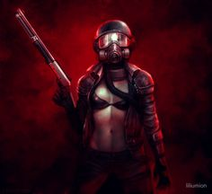 'Red Apocalypse' Poster by liliumion Apocalypse World, Post Apocalypse, Wolf, Fallout New Vegas, Video Game Art, Cool Art, Awesome Art, Videos, Ranger
