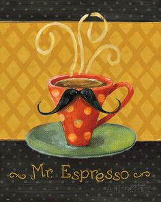 Cafe Moustache III Prints by Lisa Audit