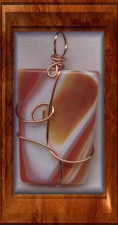 Agate Copper Wire Wrapped Pendant